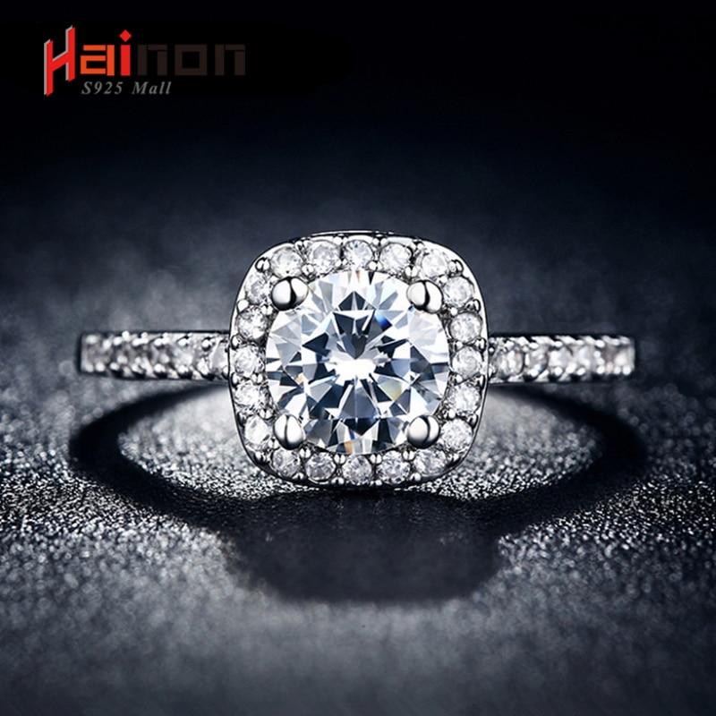 С серебряным покрытием Свадебные Кольца для Для женщин квадратный имитация циркон ювелирный Bague Bijoux Femme Обручение кольцо Интимные аксессуары
