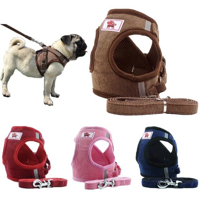 Cablaggio del cane Al Guinzaglio Set Regolabile Traspirante Collare Del Gatto De