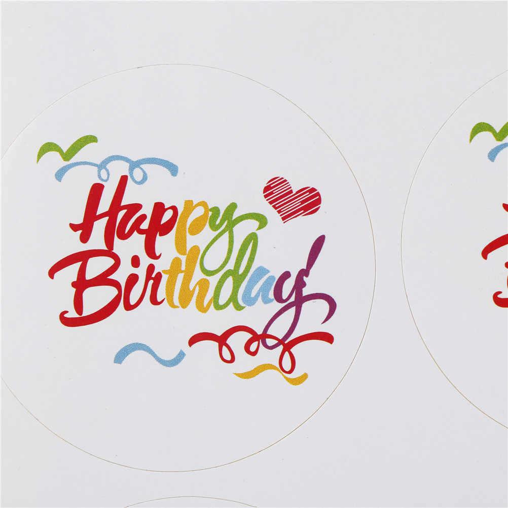 100 قطعة قوس قزح عيد ميلاد سعيد سلسلة تصميم دائري كرافت لواصق الختم لتقوم بها بنفسك متعددة الوظائف حزمة هدية تسميات صغيرة جديدة