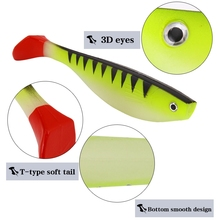 YTQHXY Saltwater Fishing Lure Shad Soft Bait 2pcs/lot 140mm 25.7g Iscas Artificiais Fishing Tackle Carp Silicone Baits YE-319