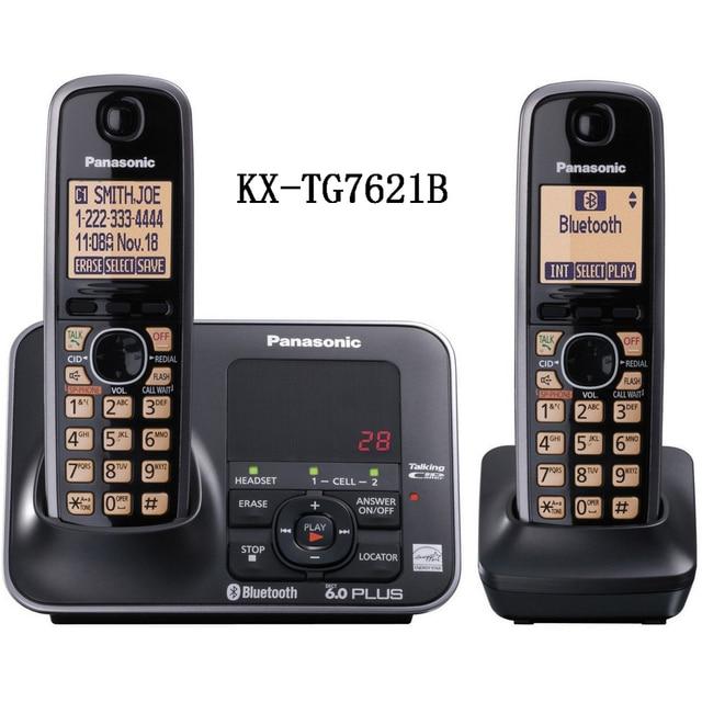 free shipping kx tg7621 dect 6 0 link to cell via bluetooth cordless rh aliexpress com Panasonic Kx Tg7641 Settings Panasonic Pasc