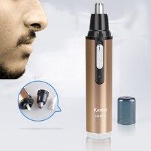 Горячая KEMEI KM-6619 современный дизайн портативный безопасный перезаряжаемый Персональный триммер для удаления волос в носу и ушах домашний дорожный триммер для шампанского