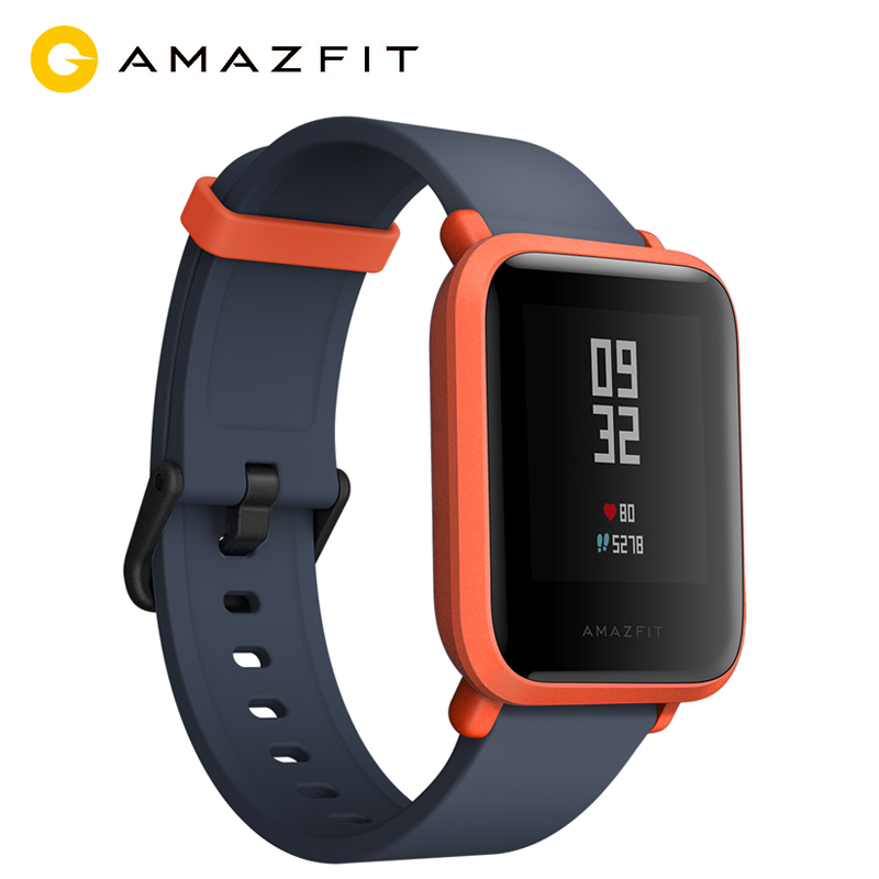 Huami Amazfit Bip Smart Watch English Version Smartwatch Pace Lite Bluetooth GPS Heart Rate 45 Days Battery IP68 For Xiaomi Ios english version original xiaomi huami amazfit youth smart watch bip bit face gps fitness tacker heart rate baro ip68 waterproof