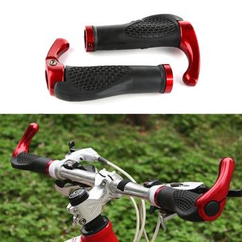 Chwyty rowerowe części rowerowe kierownica do roweru górskiego gumowe antypoślizgowe ergonomiczne rowerowe uchwyty rowerowe akcesoria tanie i dobre opinie CN (pochodzenie) Aluminiowe ze stopu + guma 13 cm 2 2cm Handlbar