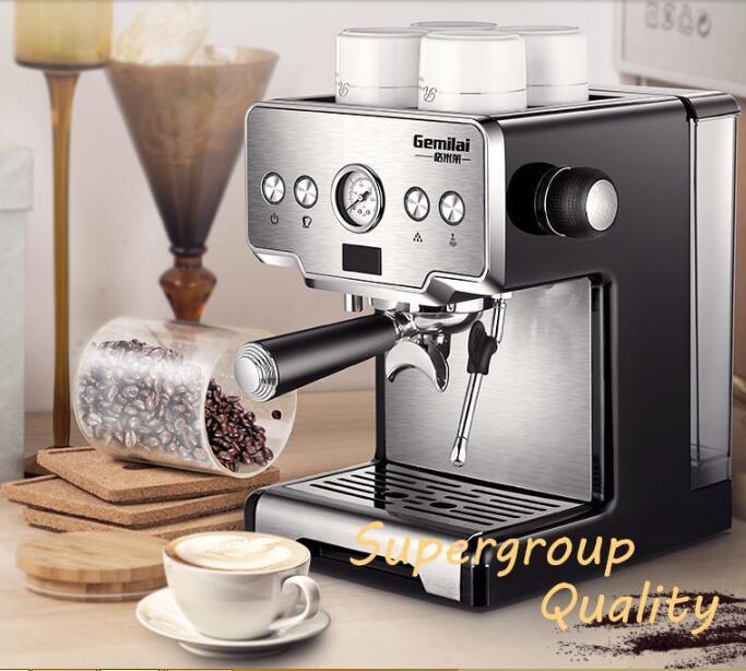 Contrôle de la température Italien Cafetière 15bar Acier Inoxydable Semi-Automatique Machine À Café À Vapeur Café Grillé Maker CRM3605
