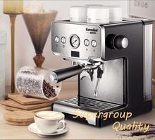 Термоконтроль Итальянская Кофеварка 15bar из нержавеющей стали полуавтоматическая кофемашина Паровая жареная Кофеварка CRM3605
