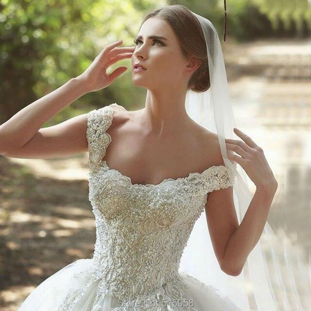 Said Mhamad Dress Wedding 2017 Heavy Lace Beaded Tulle Princess From Lebanon Designer