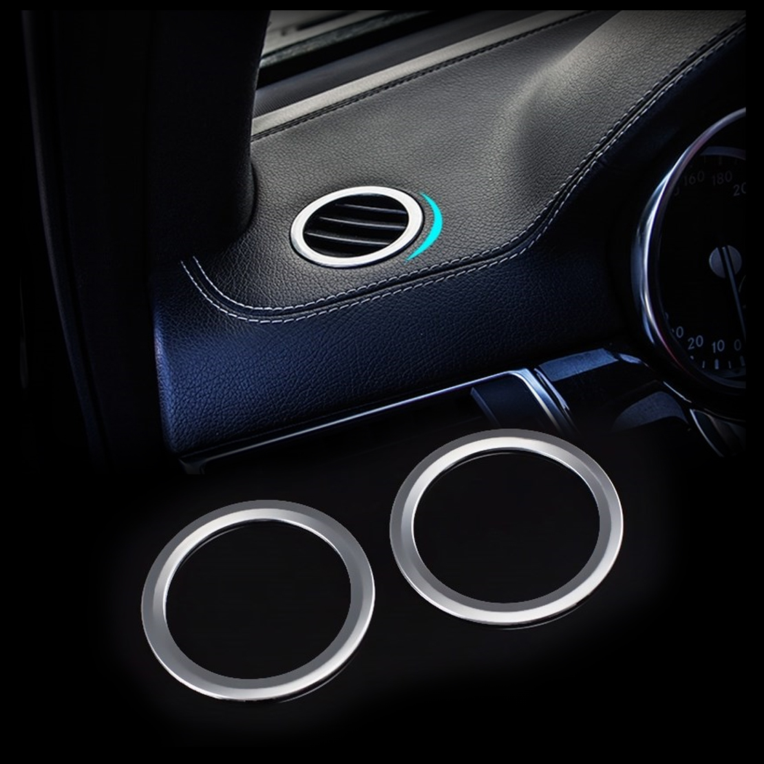 2X Car Dashboard Air Vent Outlet Cover Trim Fit for Benz GLK X204 ML GL B Class