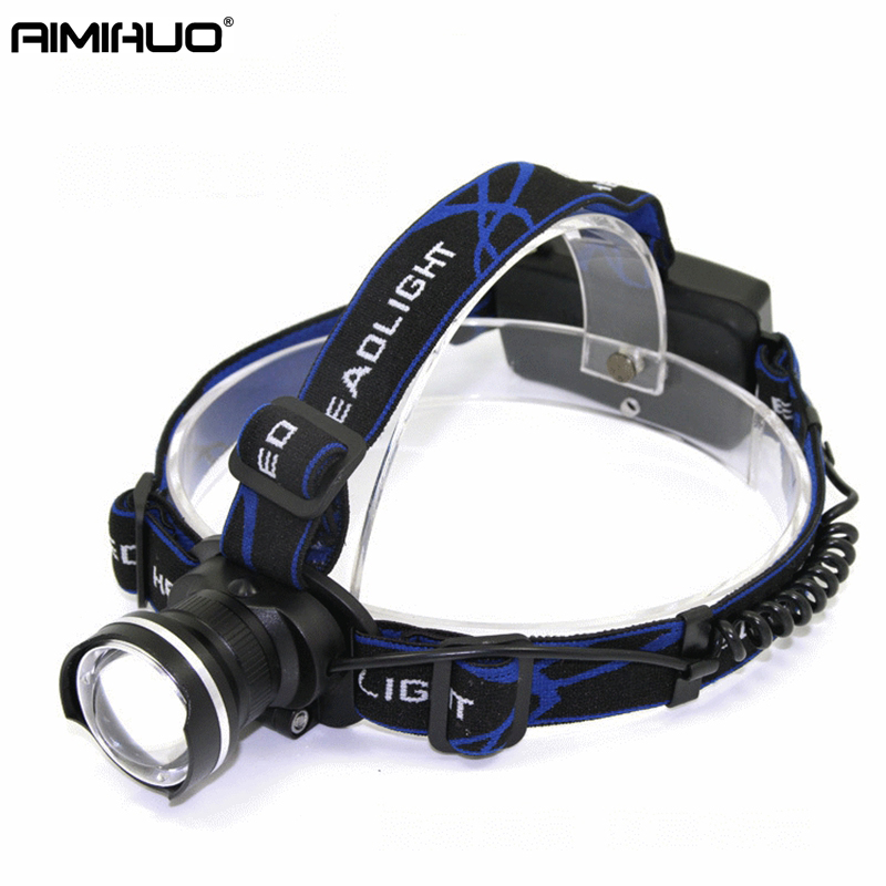 AIMIHUO 3000LM Zoomable Headlamp CREE XM-L T6 LED Headlight Torch Lamp 4.2V Flashlight Forehead For 18650 Rechargeable Battery