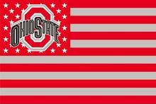 Ohio state buckeyes logotipo da bandeira com 100D 3ftx5ft Bandeira das listras das estrelas de Poliéster Da Bandeira dos eua