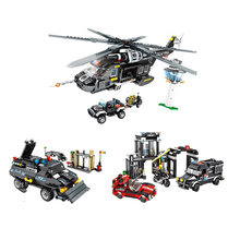Military Helicopter Tank Truck Vehicle Building Blocks Compatible Legoing Technic SWAT Police Technic Bricks Toys Gift For Child(China)