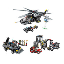Военный вертолет Танк грузовик автомобиль строительные блоки совместимый технический спецназ полиции техника армии кирпичи игрушки подарки для детей