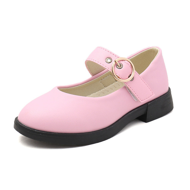 COZULMA Kids Causal Leather Shoes Girls Elegant Princess Non-Slip Rubber Sole Shoes Size 26-36