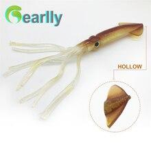 3pcs/set 20cm/8 length  soft squid bait luminous lure pesca (light in night)