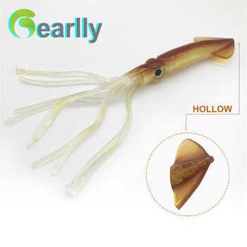 3pcs/set 22cm/9inch brown/luminous soft sea big game fishing big squid octopus bait lure inchiku jigging snapper pesca calamar - DISCOUNT ITEM  23% OFF All Category