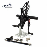 CNC Aluminum Motorcycle Foot Pegs Rest Footpegs Pedals Rearset Footrest For Honda CBR650F CBR 650F 2014 2017 2015 2016