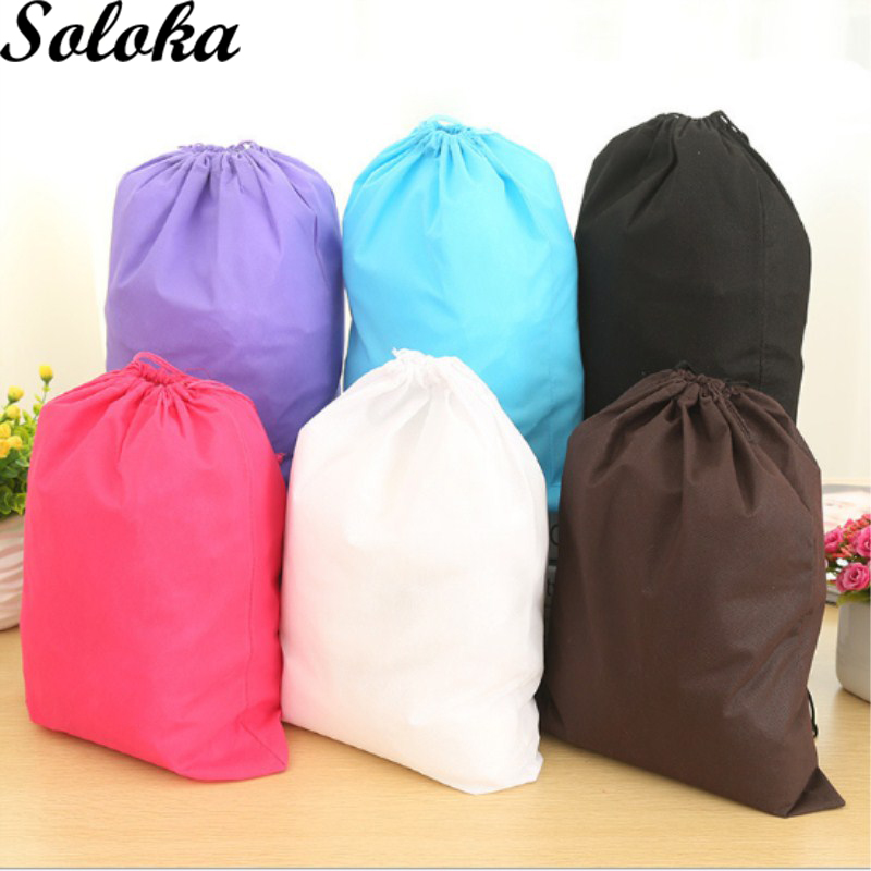 1Pc Handmade Cotton Non-woven Fabric Storage Package Drawstring Bags for Women Candy Color Sack все цены