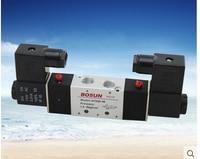 4V220-08 dos de cinco vías de la válvula solenoide neumática de control de Voltaje: 110 V AC, 220 V AC, 380 V AC, 24 V AC, 12 V DC, 24 V DC.