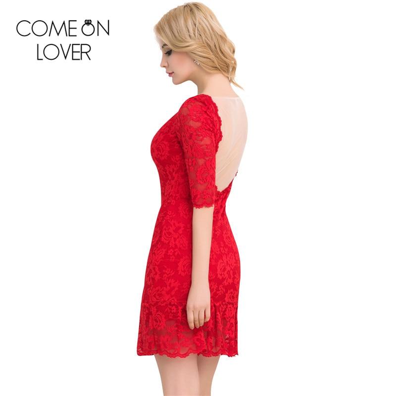 Comeonlover 2017 새로운 신축성 여성 레이스 드레스 - 여성 의류 - 사진 5
