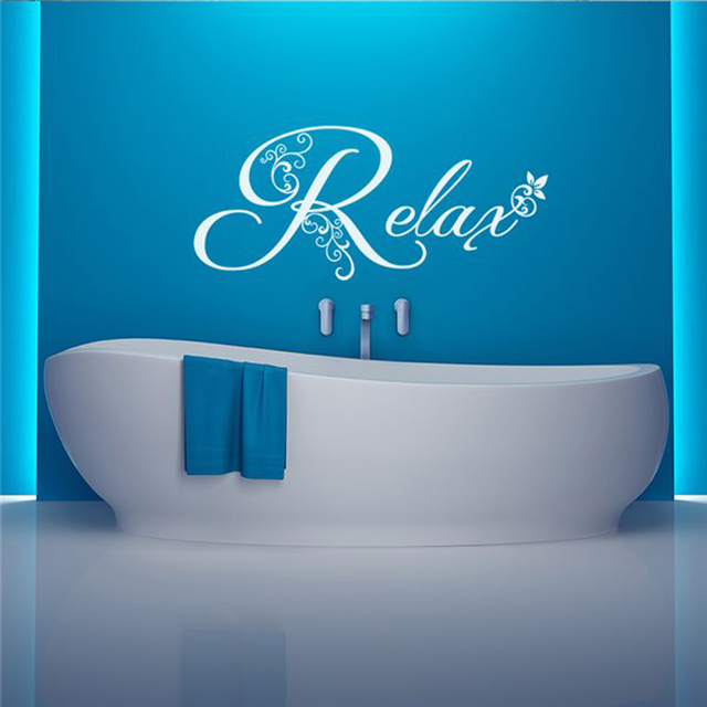 vinyl wall decals bathroom relax bathtub wall stickers home decor toilet decal diy removable art murals