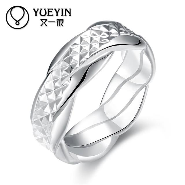fashion silver plated finger rings for women wedding ring couple rings classic cute jewelry supplier original - Woman Wedding Rings