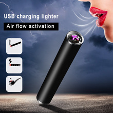 Air Flow Activation Lighter Lighters Double Arc USB Charging Electric Electronic Encendedor Mini Portable Isqueiros