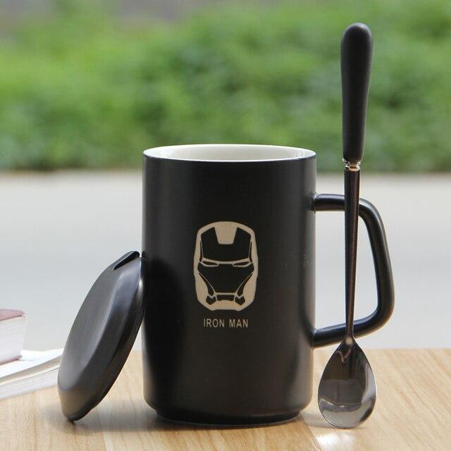 Connu Grande capacité tasse avec couvercle le café tasse en céramique  OB04