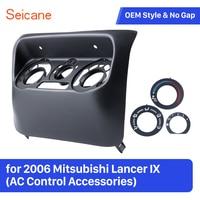 Painel Moldura do Painel Do Carro para Mitsubishi Lancer IX Seicane AC 2006 Controle Acessórios Preto Kit de Montagem Fáscias    -