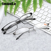 c517ad2f762 Imwete Men Women Clear HD High Diopter Myopic Glasses Metal Frame  Nearsighted Glasses Short-sight Glasses -1.0 -1.5 -2.0 -2.5