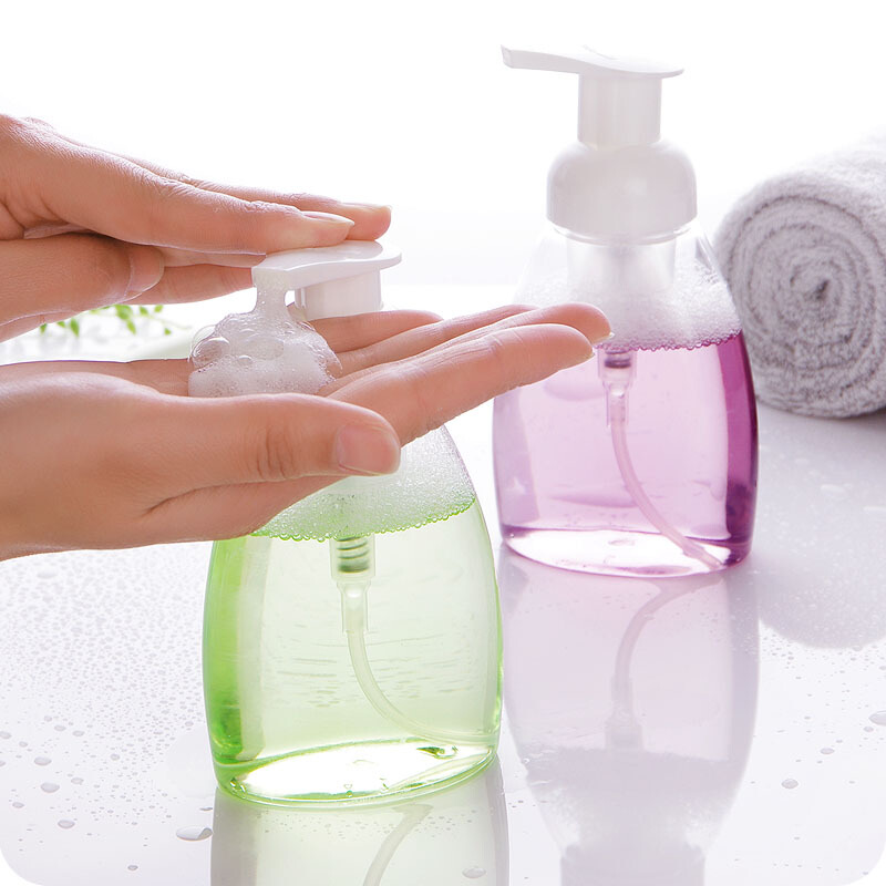 Bathroom Fixtures Liquid Soap Whipped Mousse Points Bottling Shampoo Lotion Shower Gel Foam Pump Bottle Clear Plastic Foaming Bottle 200ml Delicacies Loved By All