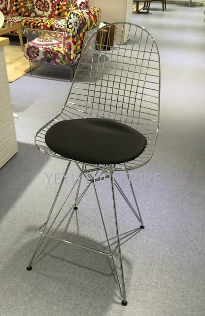 Minimaliste Moderne Conception De Fil Dacier En Mtal Chaise Bar Tabouret Meubles