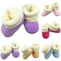 Caliente del Bebé Niños Infant Toddler Cuna Zapatos Niñas Zapatos Botas de Nieve de Invierno de Piel 0-18 M