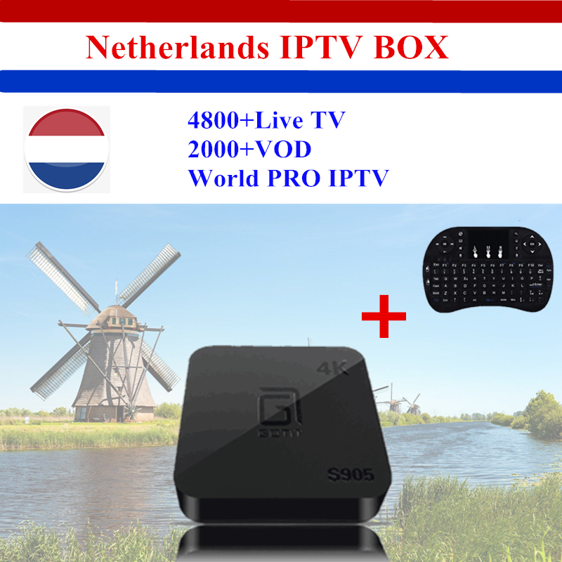 Dutch & Holland IPTV GOTiT Amlogic S905X Quad-core 64-bit 4K Smart Android TV box 4800+Spain Arabia Finland Singapore media box twip gotit 53