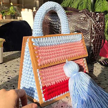 NEW 2018 Handmade Wool Winter Tote Bags Soft Style Vintage Retro Chic Fabric Green Book Wood