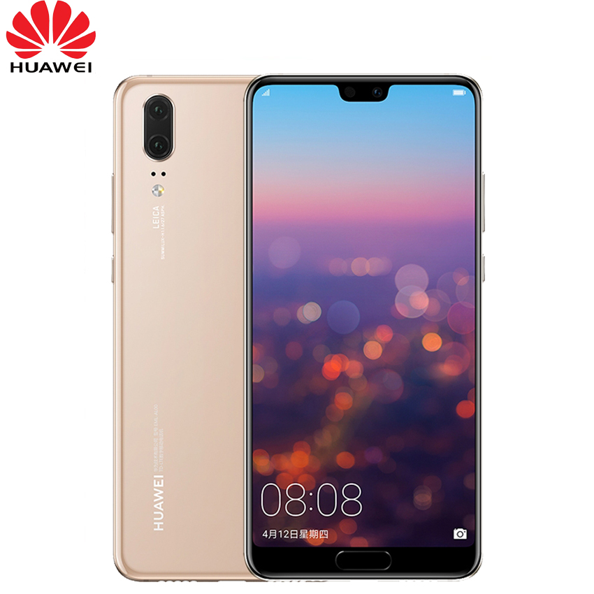 In Stock Huawei P20 Full LTE Band AI Smartphone Dual Rear Camera 5.8 inch Full View Screen SuperCharge NFC Android 8.1 6GB 64GB smartphone