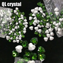 QL Crystal ALL SIZE  Heart Pointback Rhinestone High Quality for Jewelry Making DIY Accessories