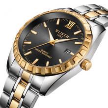 Get more info on the WLISHT Calendar men's watch waterproof men's watch gold quartz stainless steel watch 2019 top brand couples Relogio masculino