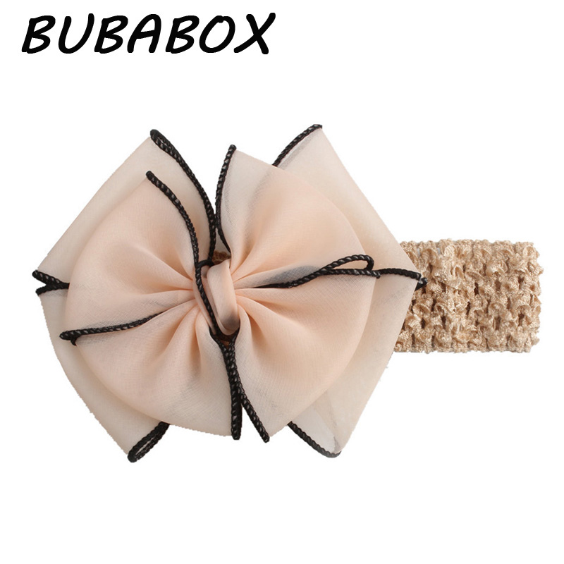 1 Pc New Baby Hair Bow Flower Headband Bowtie Hair Band Handmade Hair Accessories For Children Headwear Accessory 2018