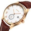 Original GUANQIN Watch Men Luxury Sapphire Famous Brand Luminous Watch Waterproof Fashion Leather Watch Clock Male Wristwatches