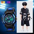 SKMEI брендовые Детские часы детские спортивные Мультяшные часы для девочек и мальчиков с резиновым ремешком Детские кварцевые цифровые свет...