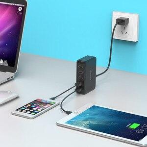 ORICO 5 портов USB зарядное устройство портативное настенное настольное умное USB зарядное устройство подходит для Samsung Xiaomi Huawei Tablet
