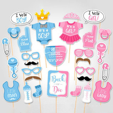 Bright Plastic Photo Props for Baby Shower Party