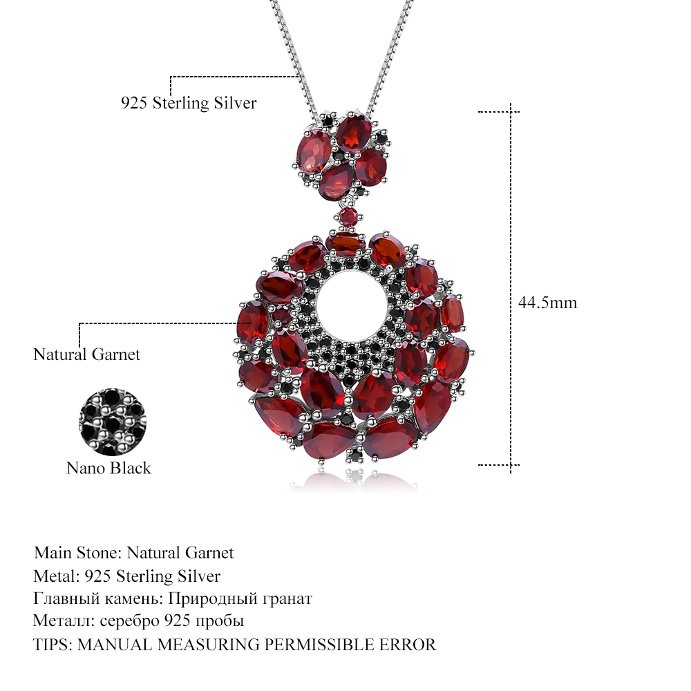 Image 5 - GEMS BALLET Natural Red Garnet Gemstone Vintage 925 Sterling 