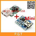 1pair 0.9V~5V 600MA USB Output charger DC-DC Boost Converter with TP4056 1a Mini USB lithium charging module