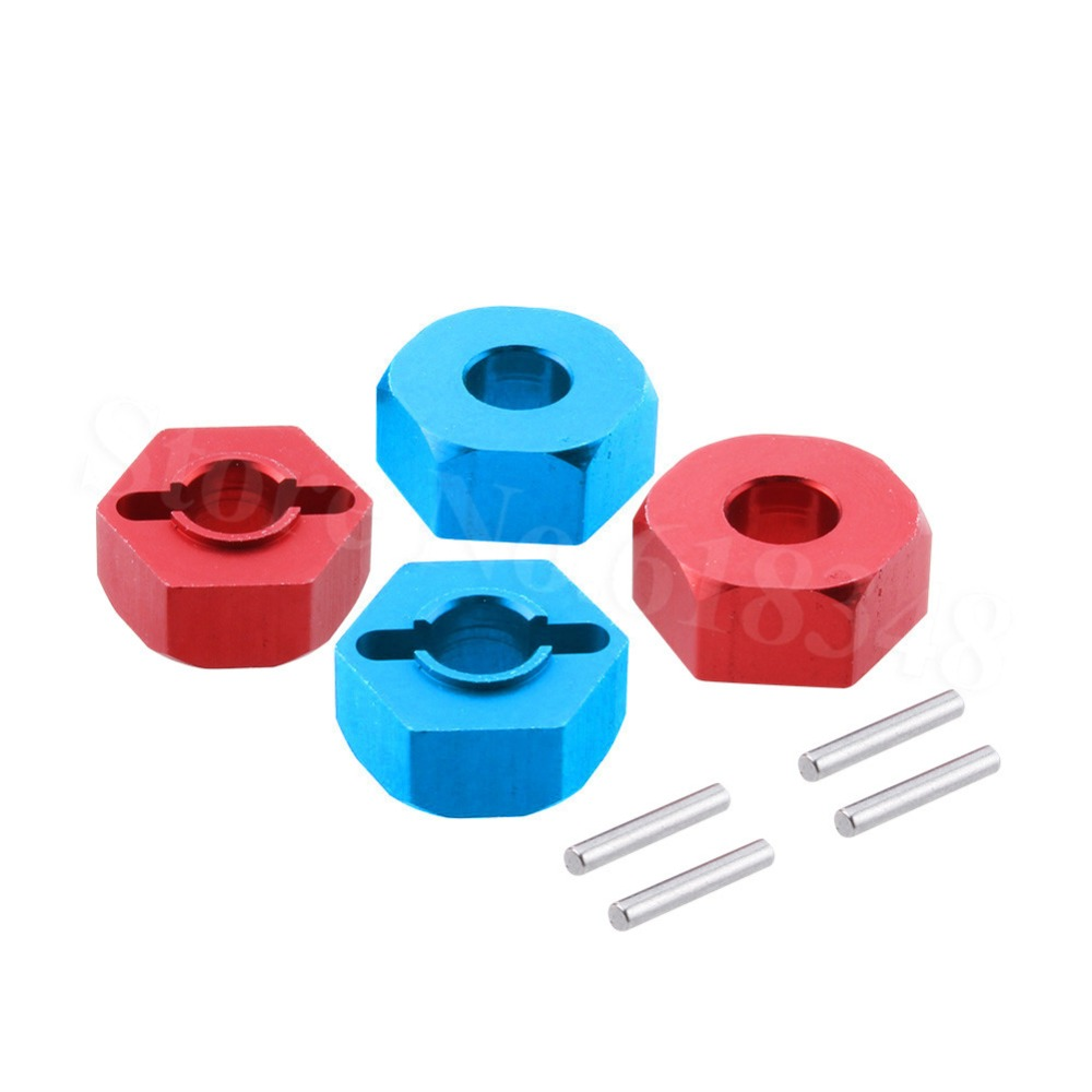 4Pcs Aluminum 12mm Wheel Hex Hub Adapter 0044 For FY-03 WLtoys 12428 12423 1/12 RC Car Crawler Short Course Truck Upgrade Parts wltoys 12428 12423 1 12 rc car spare parts 12428 0091 12428 0133 front rear diff gear differential gear complete