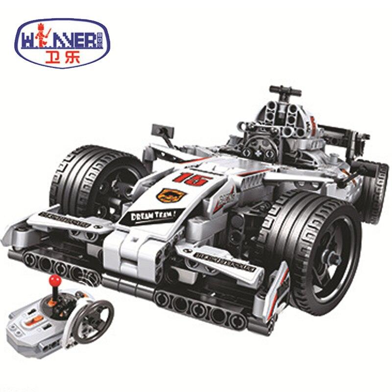 MOC F1 Racing Car Remote Control 2 4GHz Technic With Motor Box 729pcs Building Blocks Bricks