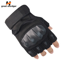 Outdoor Tactical Gloves Military Army Combat Fingerless Airsoft Shooting Paintball Hiking Bicycle Hard Knuckle Half Finger Glove