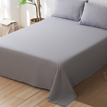 1 PC Solid Color Sheets Ultra-Soft Flat Sheet Breathable Easy To Wash Non-slip Mattress Cover Sanding Bedding