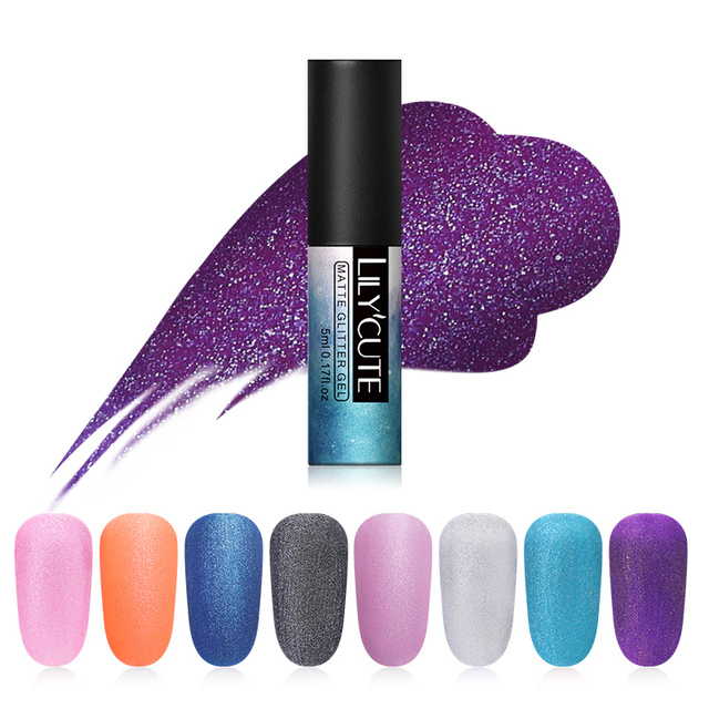 LILYCUTE 8 Colors Soak Off UV Gel