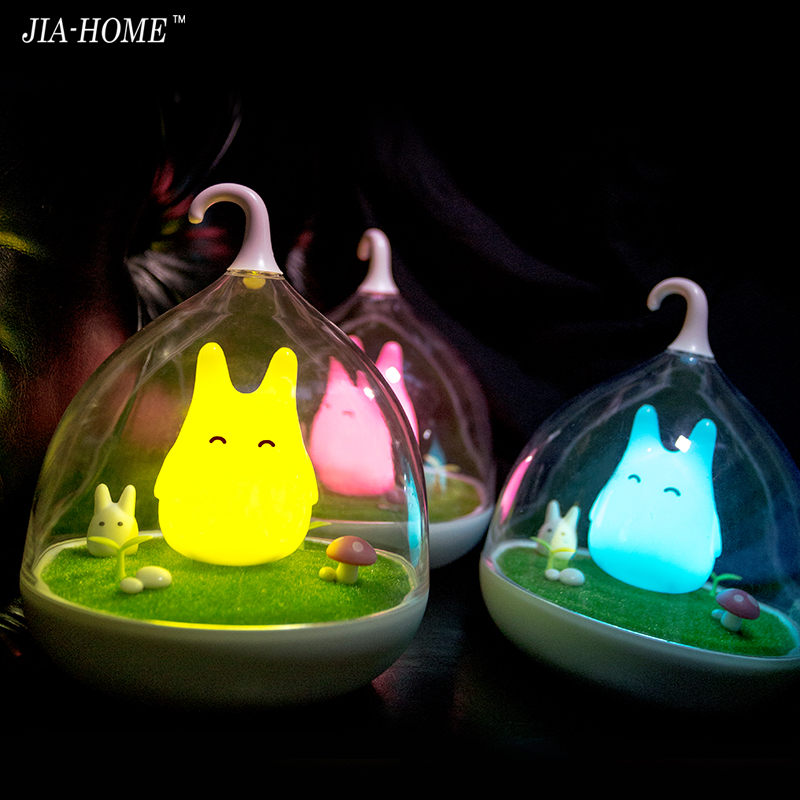 Asign Night Light Style Totoro USB Portable LED Nightlight Lamp For Gift Touch Sensor for baby Bedside Lamp